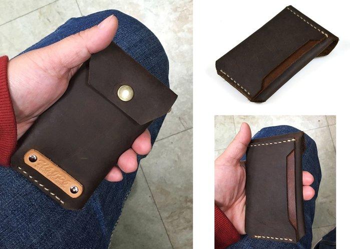【U6.JP6 手工皮件】-純手工縫製 男女適用萬用錢包