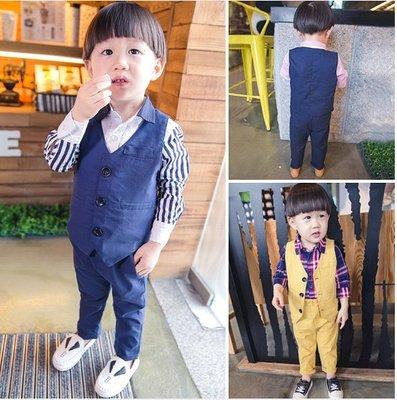 ♥ 【BS0091】QT-6509 韓版男童裝背心套裝 2色 (藍色 現貨) ♥