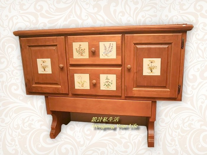 【DYL】聖馬丁磁磚實木雙門二抽玄關櫃、收納櫃(全館免運費)