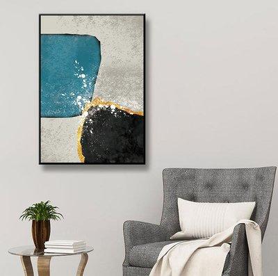 無框掛畫三件組【RS Home】30×40cm 抽象藝術無框掛畫相框木質壁畫北歐中式裝飾畫板民宿攞飾油畫掛鐘掛畫