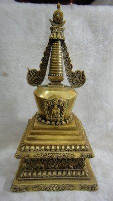 甘丹佛教文物 ^^ 31cm *15cm藏式舍利塔 (原優惠7800)( 有緣者參閱內頁