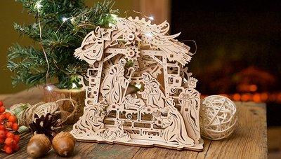 Ugears 馬槽裡的平安夜 Nativity Scene  耶穌誕生 瑪利亞 約瑟夫 天使