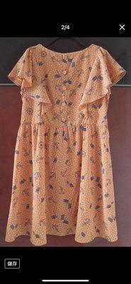 《Infinite》 日本ワールド株式會社旗下品牌【after all】磚橘色 海洋風印花 連身洋裝