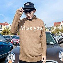 【Miss you】包邮 2018冬季純色高領毛衣林彎彎韓版套頭針織衫青年百搭CHIC線衣男潮