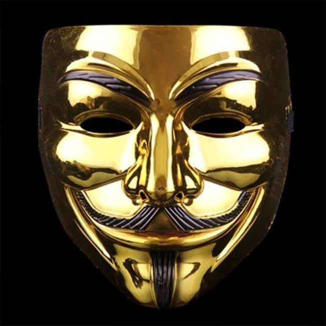 金/銀 V怪客 V面具 面具 鍍金面具 金V怪客 銀V怪客 鍍銀面具 金面具 COSPLAY 【塔克玩具】
