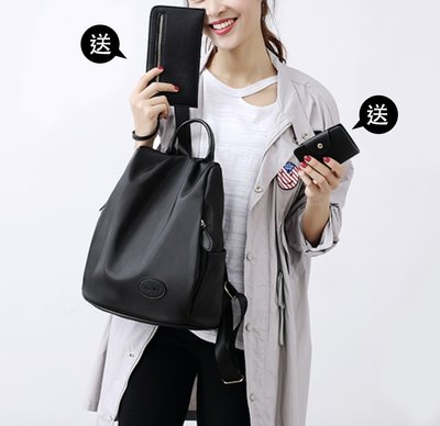 防水尼龍後背包【ZOWOO-B0122】媽咪包皮夾 非正韓國連線adidas附錄購物袋飲料提袋棉被收納防霧霾pm2.5