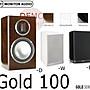 "㊑DEMO影音超特店㍿英國Monitor Audio Gold 100 書架型喇叭 雙向支架式 6.5""RST低音驅動器"