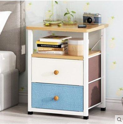 『格倫雅』床頭櫃簡約現代臥室床頭櫃簡易組裝多功能床邊小櫃子^25727
