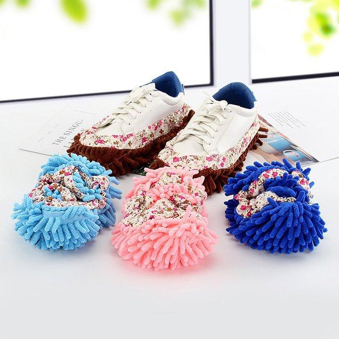 【AMAS】-居家可拆洗腳拖把擦地拖鞋套鞋套地板清潔抹布掃地除塵拖地鞋秋冬