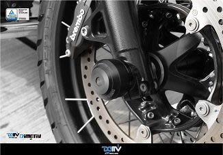 【柏霖】Dimotiv BMW R NINE T Scramble /Urban G/S Easy款前輪防摔球組DMV