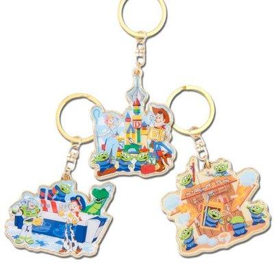 Miss莎卡娜代購【東京迪士尼樂園】﹝預購﹞玩具總動員4 胡迪 巴斯光年 翠絲 三眼怪 牧羊女 叉奇 造型鑰匙圈 3件組