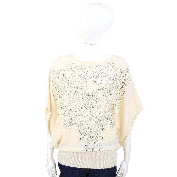 米蘭廣場 ALLUDE 米白色鉚釘圖騰設計寬袖上衣 1340322-40