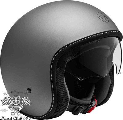 ♛大鬍子俱樂部♛ MOMO DESIGN ® Eagle Pure 義大利 經典 高質感 復古 Jet 安全帽 黑色