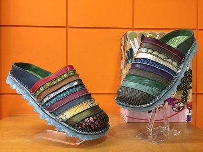 【阿典鞋店】**男鞋*Macanna**麥坎納專櫃~馬雅系列5~千層派~橫切特殊壓紋配色~牛皮+羊皮全新氣墊鞋4417