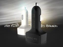 四合一 藍光顯示 雙USB 3.1A車充 電瓶電壓表車充 電流表車充 溫度計車充 點菸器 車充 台南市