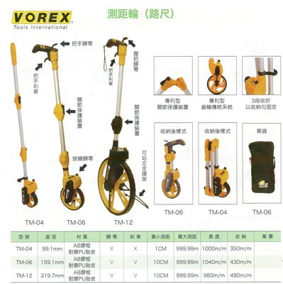 VOREX 測距輪(路尺) TM-04/TM-06/TM-12