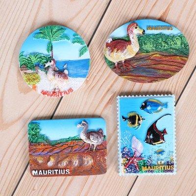 哈尼店鋪*歐式毛里求斯冰箱貼海底世界景點出國旅游紀念品磁貼優惠推薦
