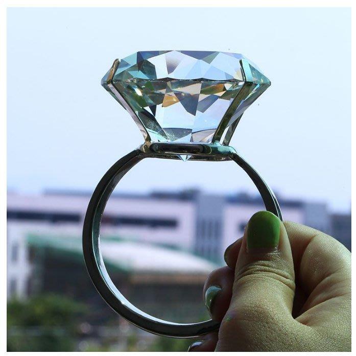 耶誕節 1000克拉 超大鑽戒 * K9水晶鑽石 禮盒 情人節 求婚鑽戒 婚紗攝影道具 婚禮小物 聖誕節 交換禮物