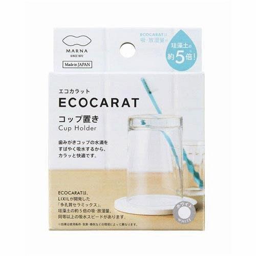 [霜兔小舖]日本代購 日本製  ECOCARAT 多孔質陶瓷 洗臉盆杯墊  吸水杯墊  非珪藻土