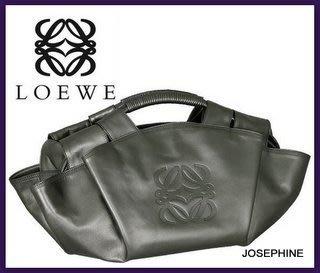 喬瑟芬【LOEWE】 限量金屬銀灰NAPPA AIRE空氣包/大~全新真品!超值優惠出清價!
