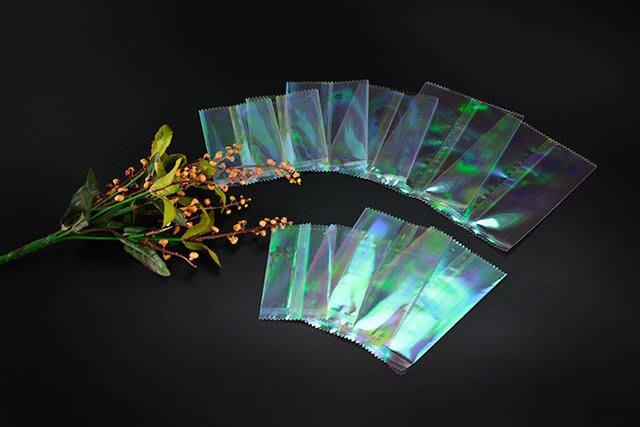 ~ 包裝~彩虹膜KPET糖果袋  90~120mm  100入 105元〈方塊酥袋.馬卡龍