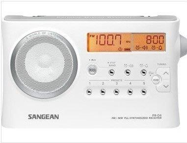 【免運費】山進二波段調頻 / 調幅數位式時鐘收音機 PR-D4