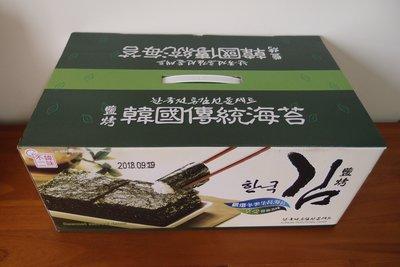 不二韓味 韓國鹽烤海苔禮盒(5公克x3包)x12條