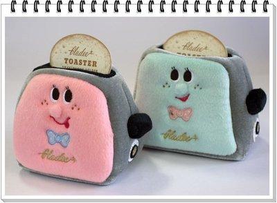 日本GLADEE可愛造型烤麵包手機座(粉色)--秘密花園