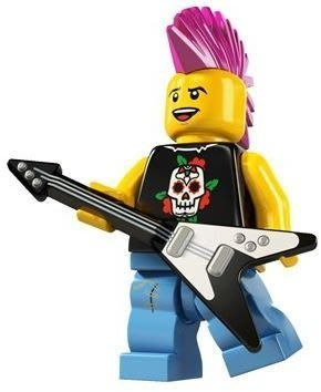 LEGO 樂高 Punk rocker 龐克歌手 搖滾手 人偶包第4代 8804
