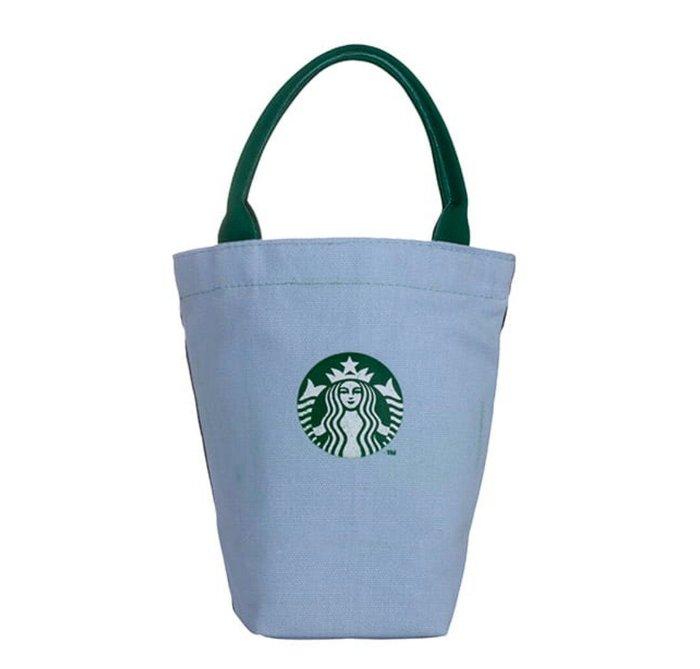 天使熊雜貨小舖~星巴克STARBUCKS 雙色女神隨行杯袋  全新現貨