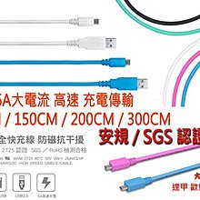 大里區 6A 高速大電流 1.5米 傳輸線 充電線 USB MICRO TYPE C iPhone 閃充
