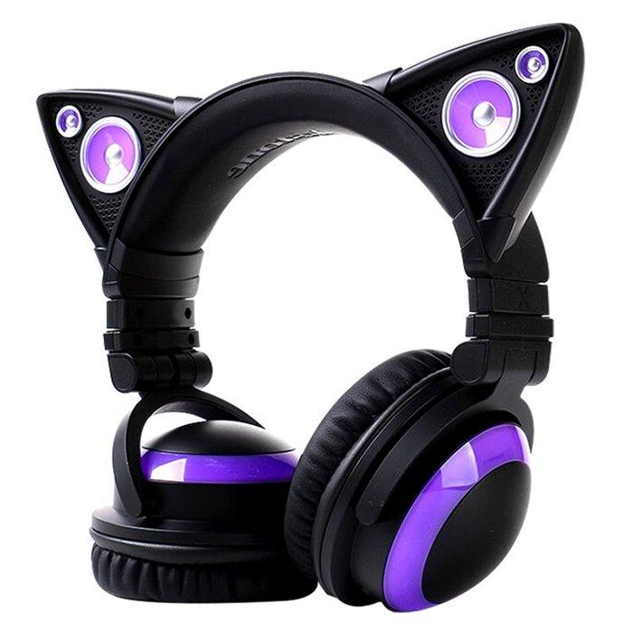 貓耳耳機4代 美國BROOKSTONE 12種色彩燈光 6大特效 貓耳電競耳機
