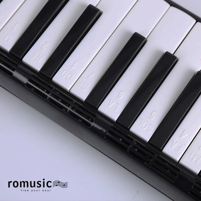 romusic口風琴37鍵兒童學生初學者教學入門口吹琴專業演奏樂器   全館免運