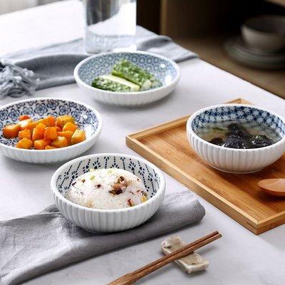 日式陶瓷碗盤 居家餐廳廚房沙拉水果甜品青花碗盤(5.5寸(E/F/G/H四擇一))_☆優購好SoGood☆