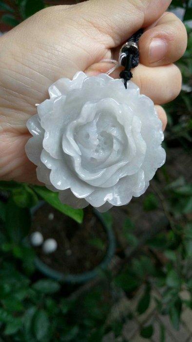 天然 A貨緬甸玉 冰料 花朵墜飾