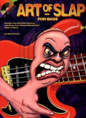 [ 反拍樂器 ] ART of SLAP BASS進口教材 /附CD (免運費)