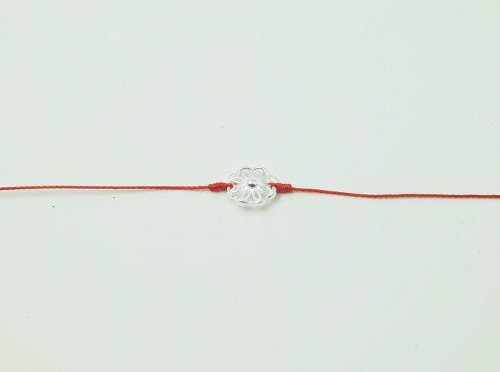 [Le Bonheur Line] 幸福線 手工/925純銀 圓 /手鍊 redline 飾品 紅線 銀飾 第二顆鈕扣