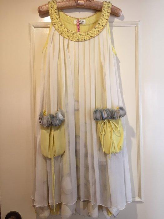 Chloe款 夏日寶石風 輕飄絲質洋裝 超級絕美氣質款 手工縫製