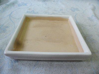 紫色小館38--------早期陶盤{白色}正方形