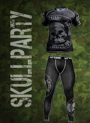 Ho-Stile短袖壓縮衣 格鬥衣 防磨衣 (衣服+褲子)