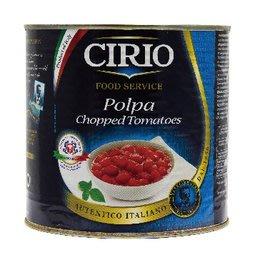 ~* 萊康精品 *~ 義大利 CIRIO 碎粒蕃茄/Chopped Tomatoes 2550克 義大利麵用