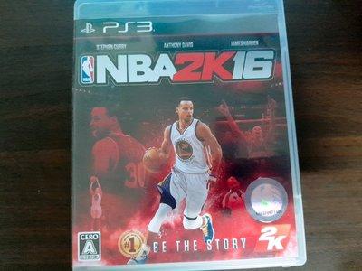 PS3 NBA 2K16 美國職籃大賽 純日版