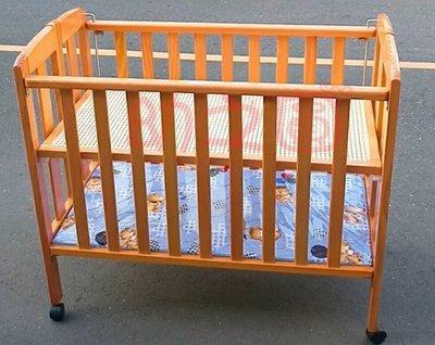 幼之圓1館*原木3.8尺折合中床~嬰兒折合床(雙床底)~冬夏兩用~好收納不佔空間~堅固耐用~附輪子~