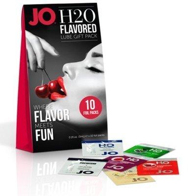 @美國JO*JO H2O Flavored Lube Foil Gift Pack潤滑油鋁箔包(10入裝)3ML/入