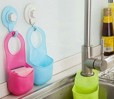 Joe's Kids & Cakes shop~按扣式水槽掛袋 廚房海綿瀝水架 水龍頭多用收納袋