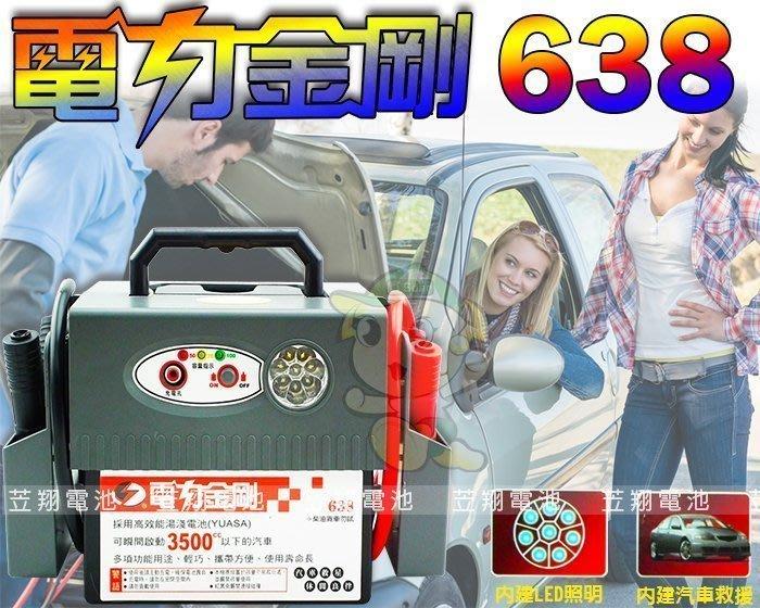 ☼ 台中苙翔電池 ►(露營電池 IL638) 救車電源 點煙器 電霸 電力士 綠電士 電匠 救車線 道路救援電池