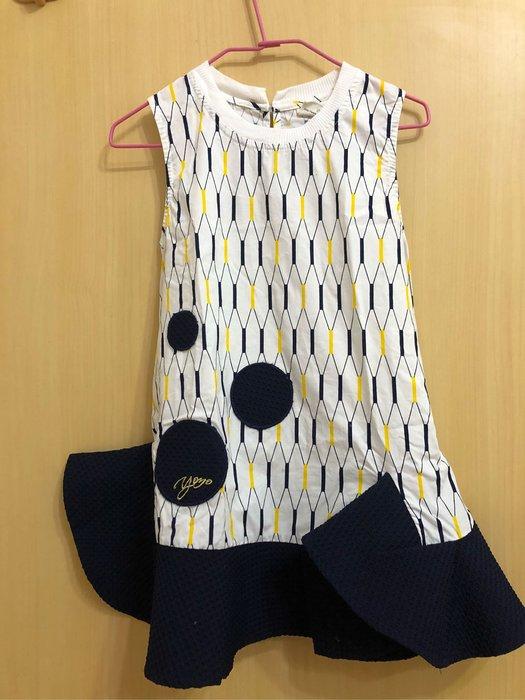 YOYO&NANA短洋裝 白色/深藍