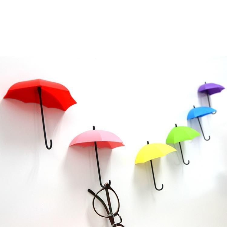 壁貼創意墻貼簡約小清新雨傘房間客廳臥室墻壁裝飾品掛鉤可愛掛件【一件下殺249】WYXBD