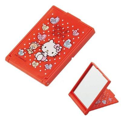 【草莓卡通館】Sanrio 三麗鷗 Hello Kitty 隨身折鏡 隨身鏡