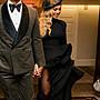 ㊣ 美國八卦小報 ㊣ Eugenia Kim 碧盎絲同款限量系列皮質黑色貝雷帽 現貨在台